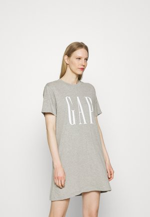 DRESS - Jersey dress - grey heather