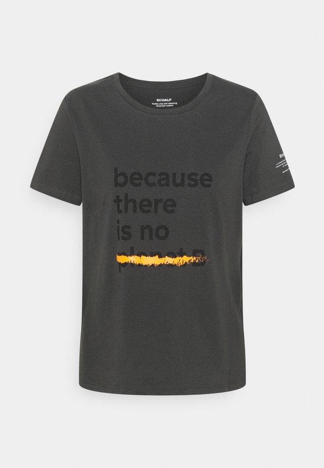UNDERLINED BACAUSE - T-shirt med print - asphalt