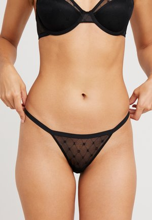 MONOGRAM THONG - String - black