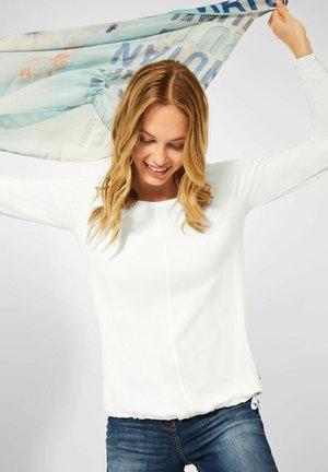 IM MATERIALMIX - Long sleeved top - weiß