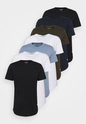 JJENOA TEE CREW NECK 7 PACK - Basic T-shirt - blue/white/green/black