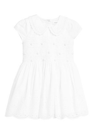 PINK EMBROIDERED SHIRRED PROM DRESS (3MTHS-7YRS) - Day dress - white