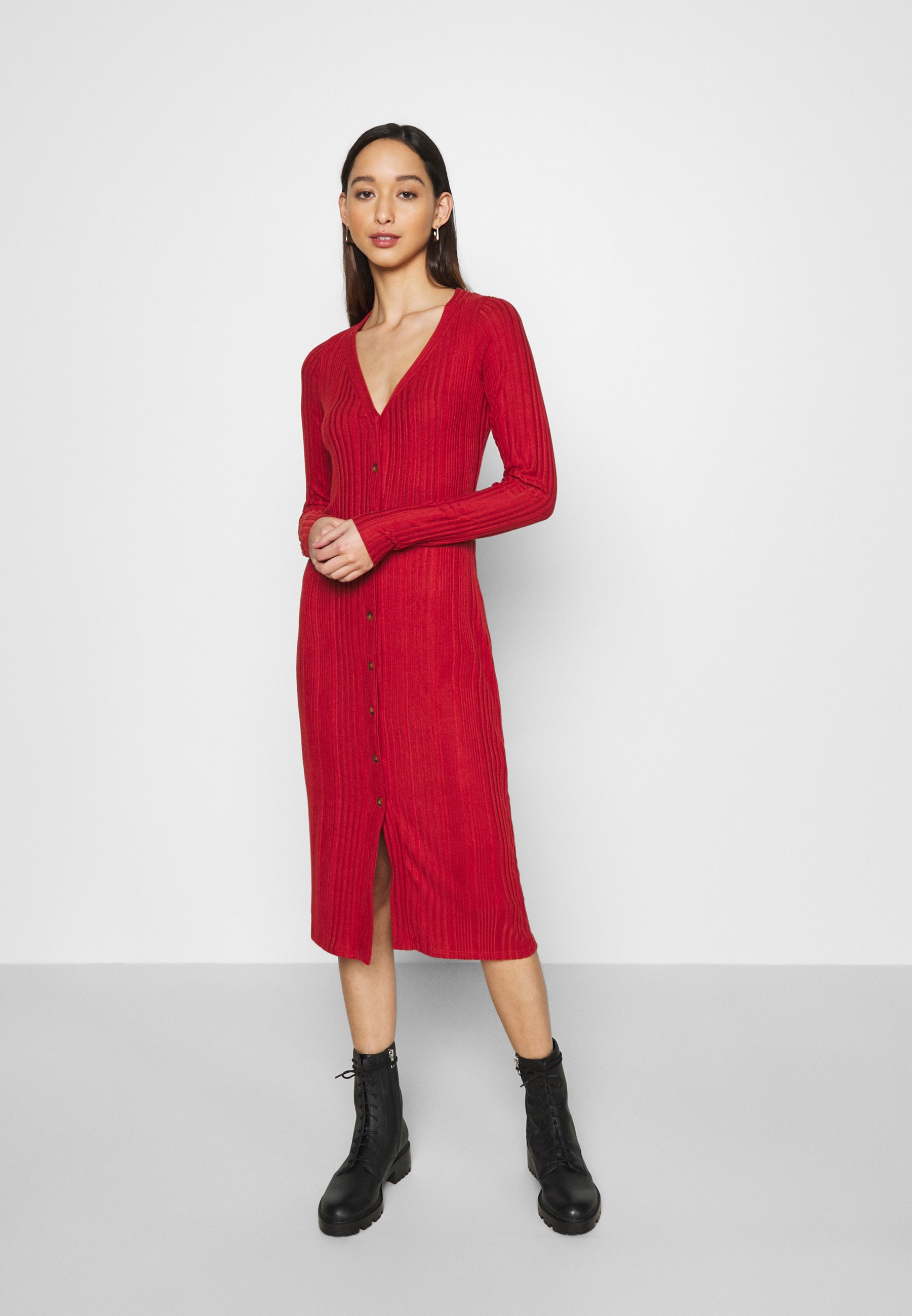 Women COZY MIDI DRESS - Shift dress