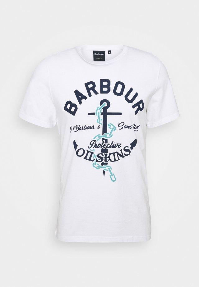AMBLE TEE - T-shirt print - white
