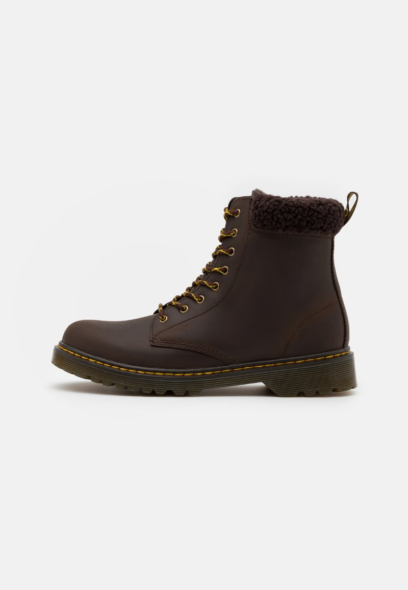 Dr. Martens - 1460 COLLAR REPUBLIC WP UNISEX - Lace-up ankle boots - dark brown