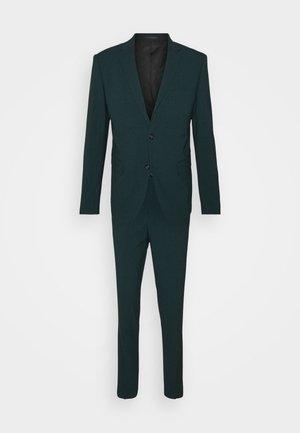 PLAIN MENS SUIT - Suit - bottle green melange
