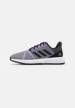 COURTJAM BOUNCE CLAY - Tennisskor för grus - core black/footwear white/grey three