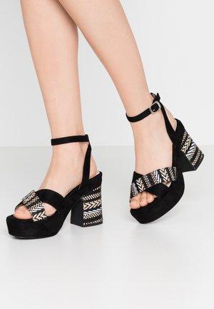 LEIRA - Sandaler med høye hæler - black