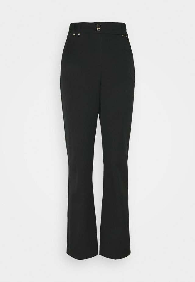 BOOTCUT - Trousers - black