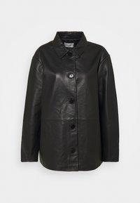 FLORA JACKET  - Leather jacket - black