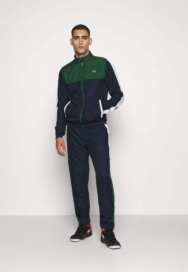 TENNIS TRACKSUIT - Trainingspak - green/navy blue/white