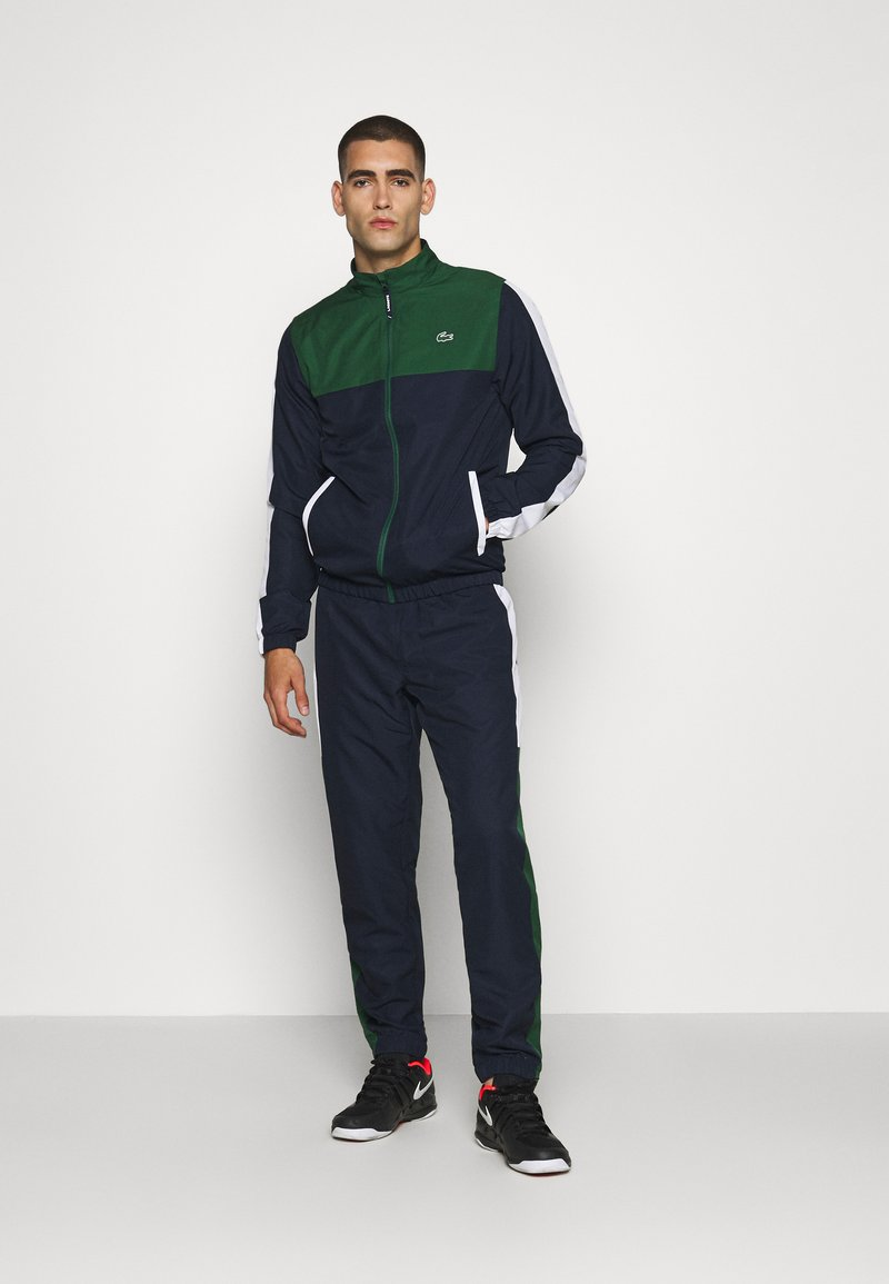 Lacoste Sport - TENNIS TRACKSUIT - Tracksuit - green/navy blue/white