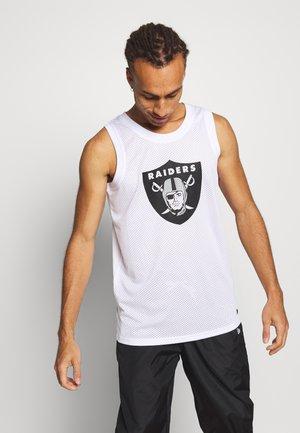NFL LOGO TANK OAKLAND RAIDERS - Club wear - white