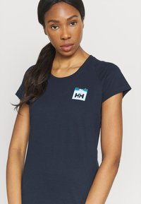 Helly Hansen - NORD GRAPHIC DROP - Print T-shirt - navy - 3
