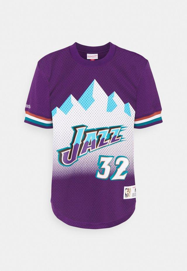 NBA UTAH JAZZKARL MALONE NAME & NUMBER CREWNECK - T-shirt imprimé - purple
