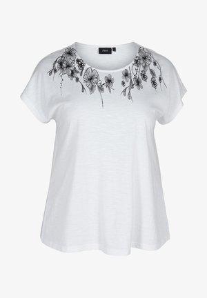 T-shirt print - bright white flower
