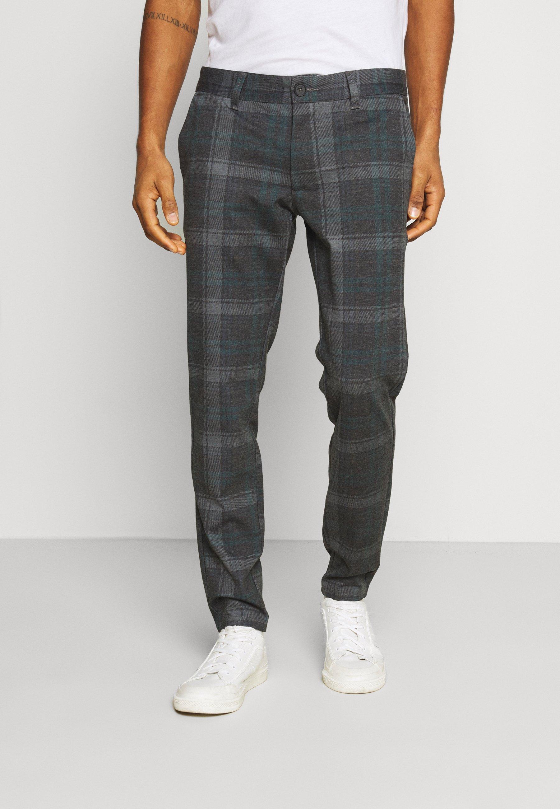 Men ONSMARK KAMP TAP CHECK PANT - Trousers