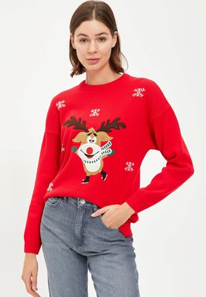 CHRISTMAS JUMPER - Jumper - red