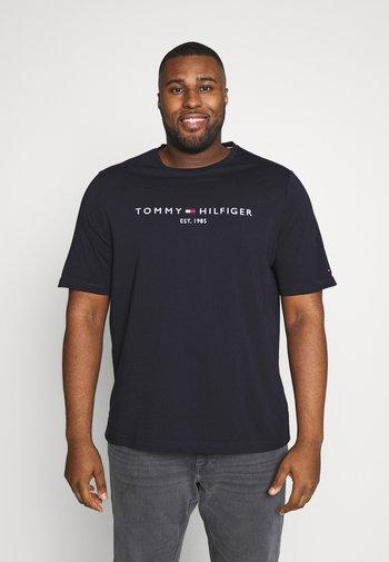 LOGO TEE BIG & TALL - Print T-shirt - blue