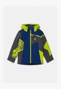 Spyder - CHALLENGER - Ski jacket - dark grey/neon green/blue - 0
