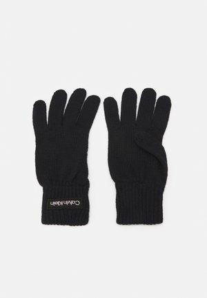 FELT PATCH GLOVES - Gloves - navy