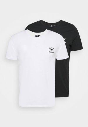 RIVER 2 PACK - T-shirts basic - black/white