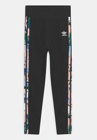 adidas Originals - Leggings - Trousers - black/haze coral/multicolor - 0