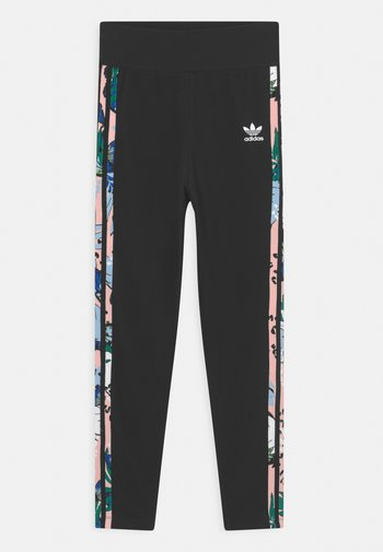 Leggings - Trousers - black/haze coral/multicolor