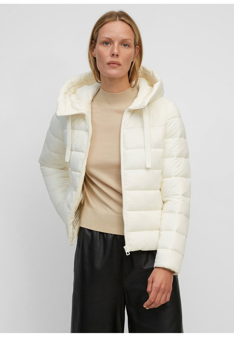 Marc O'Polo - SP, RECYCLED NO DOWN,  RECYCLED, FIX HOOD, WELT POCKET - Light jacket - white sand