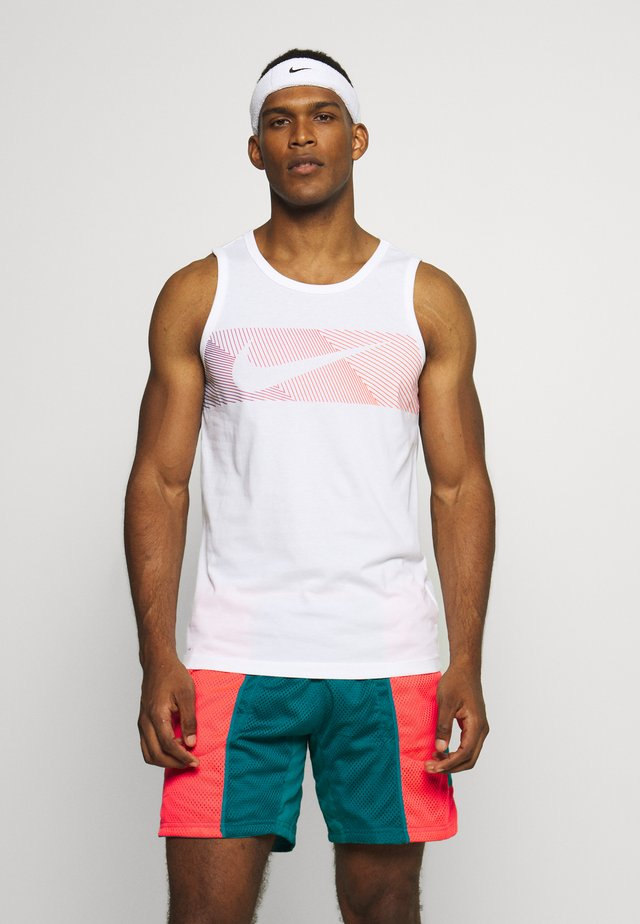 TANK - T-shirt sportiva - white/hyper crimson