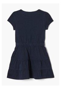 s.Oliver - MIT HERZ-PRINT - Jerseykleid - dark blue - 1
