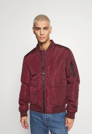 BASEBALL JACKET - Bomber bunda - burgundy