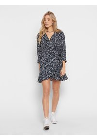 ONLY - ONLCARLY WRAP SHORT DRESS - Day dress - night sky - 1