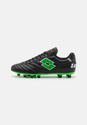 STADIO 200 II FG - Moulded stud football boots - all black/spring green