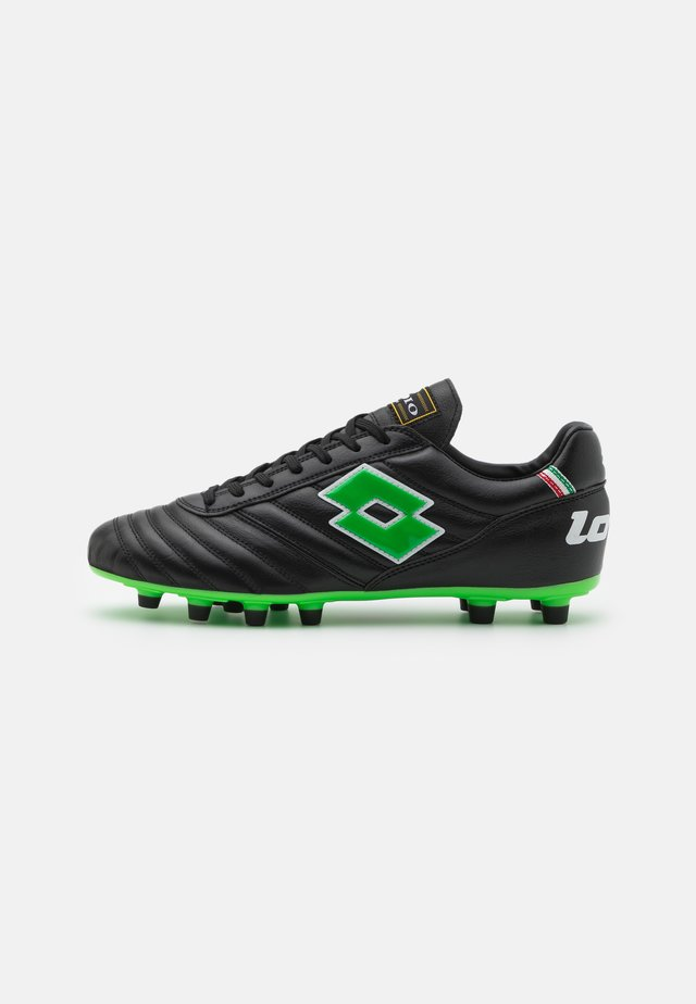 STADIO 200 II FG - Chaussures de foot à crampons - all black/spring green