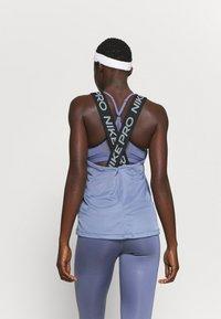 Nike Performance - DRY ELASTIKA TANK - Sports shirt - world indigo/black - 2