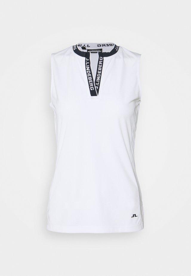 LEYA SLEEVELESS GOLF - Sports shirt - white