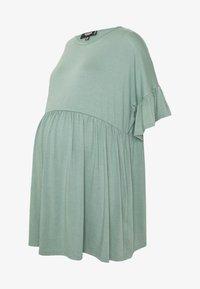 Missguided Maternity - MATERNITY FRILL SLEEVE SMOCK DRESS - Jersey dress - sage - 4