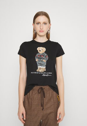 SKI SLEEVE - T-shirt z nadrukiem - polo black