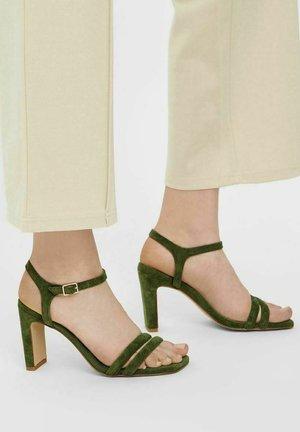 BIADEEDEE - High heeled sandals - olive