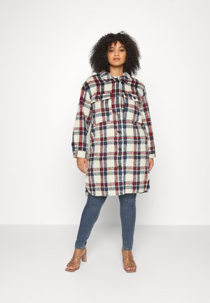 LONGLINE RELAXED SHACKET - Classic coat - blue/red