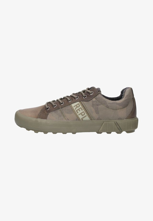 Sneakers laag - olive/brown