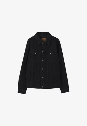 Denim jacket - mottled black