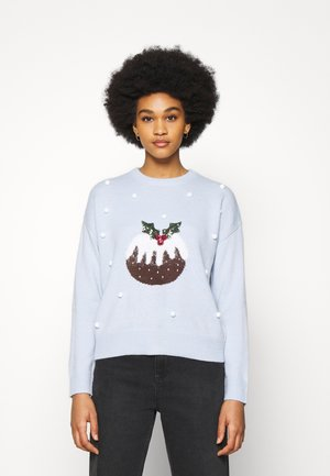 BOBBLE PUDDING JUMPER - Strikpullover /Striktrøjer - blue