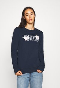Hollister Co. - CHAIN CROPPED ICON  - Sweatshirt - navy - 0