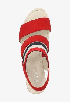 SANDALEN - High heeled sandals - flame (marine-k.) 15
