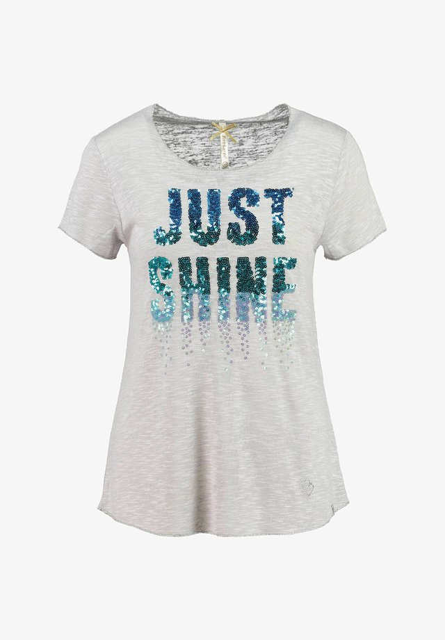SPARKLE - Print T-shirt - silber