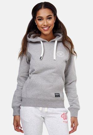 Hoodie - grau weiß