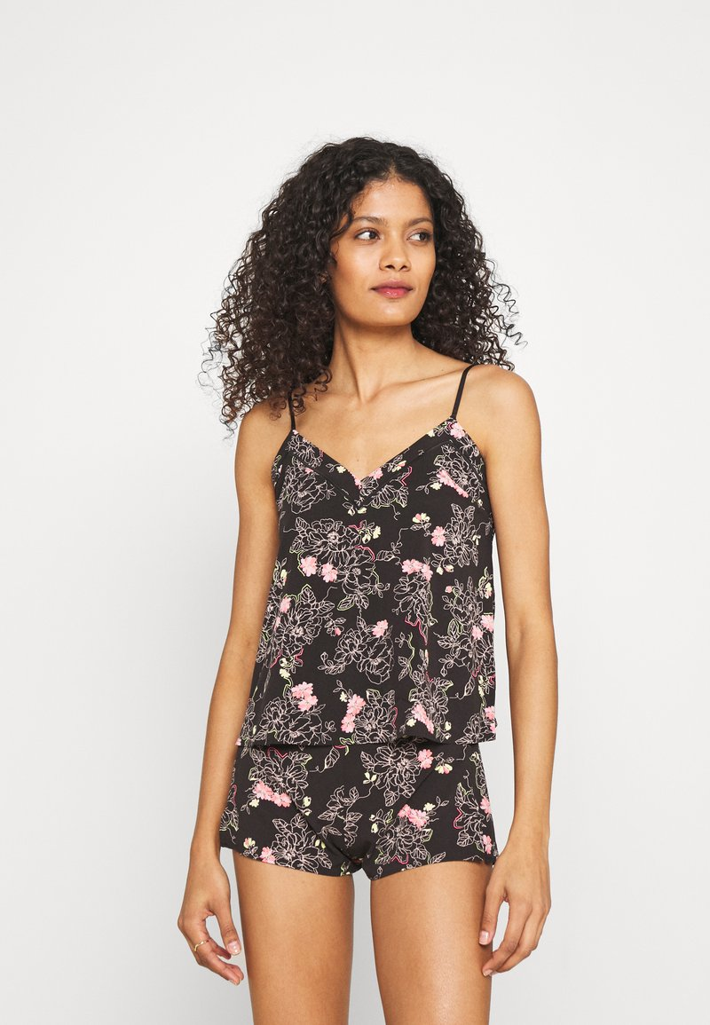 Marks & Spencer London - FLORAL CAMI - Pyjamas - black mix