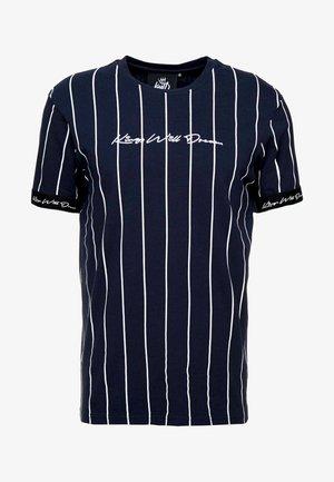 CLIFTON - Print T-shirt - navy/white